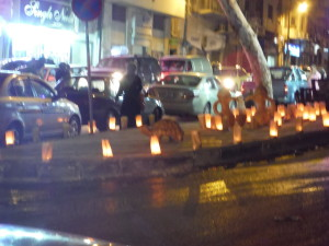 Luminaries in downtown Amman.