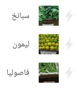 As a practical photography project, I turned a visit to a produce store in Jordan into a flashcard set for Levantine Arabic terms for fruits and vegetables on Memrise.com.