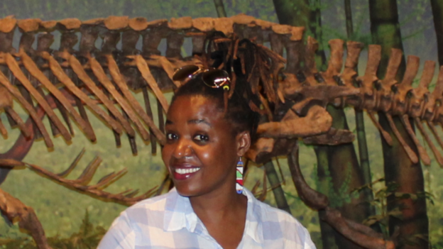 Tandiwe Ngwenya at the Carnegie Museum of Natural History in Pittsburgh, PA